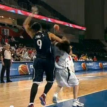 オリンピック・女子バスケ日本vs韓国 韓国人選手のラフプレーがひどすぎる